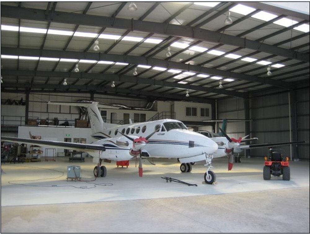 Structural Steel Warehouse Maintenance Warehouse Airplane